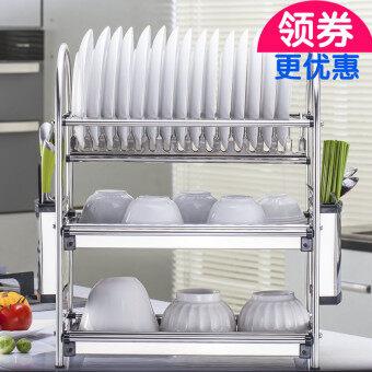 Dish rack 304 stainless steel put dish rack hanging dish rack double dish rack drain water dish rack kitchen shelf vertical