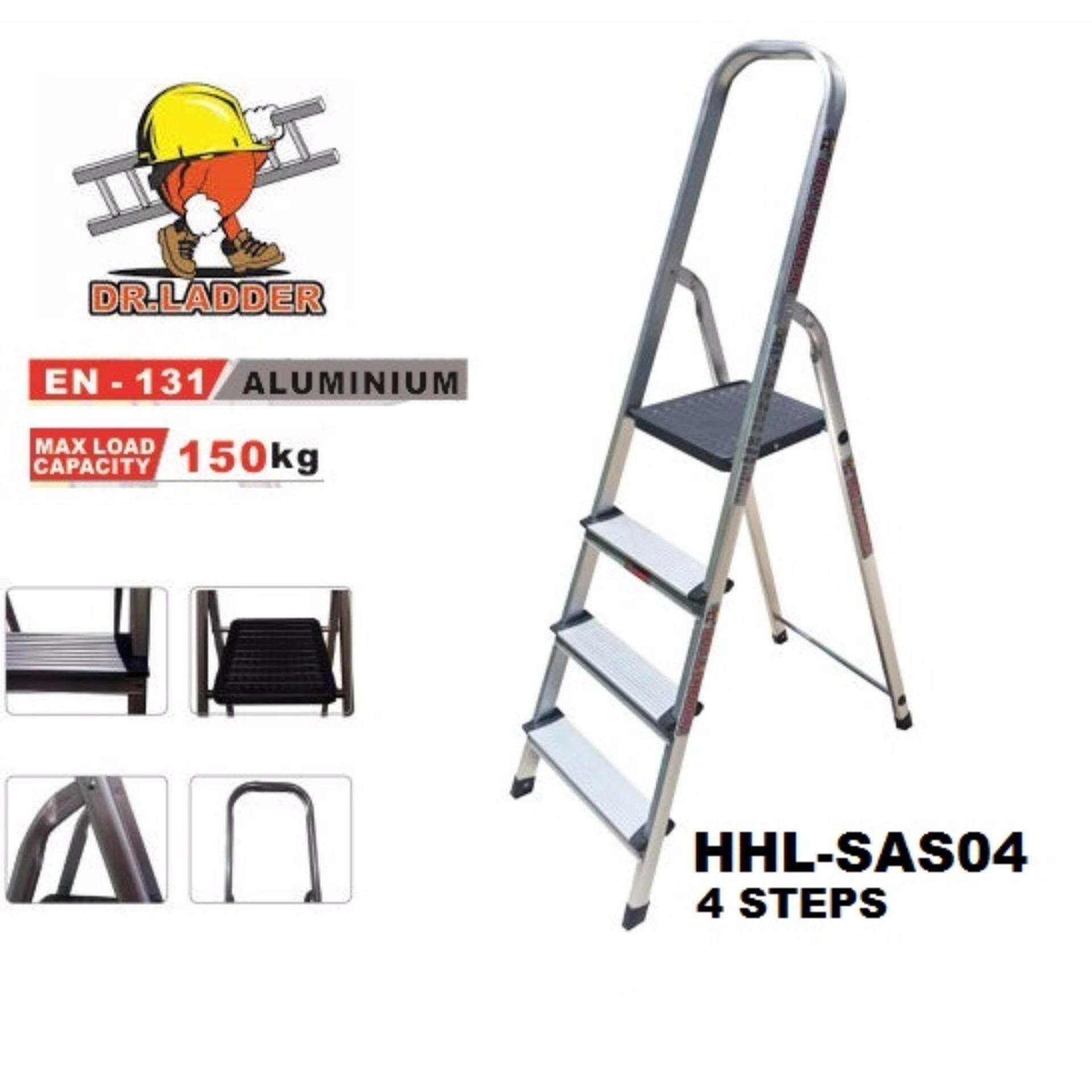 Dr ladder aluminium household ladder hhl sas04 4 steps for House doctor ladder