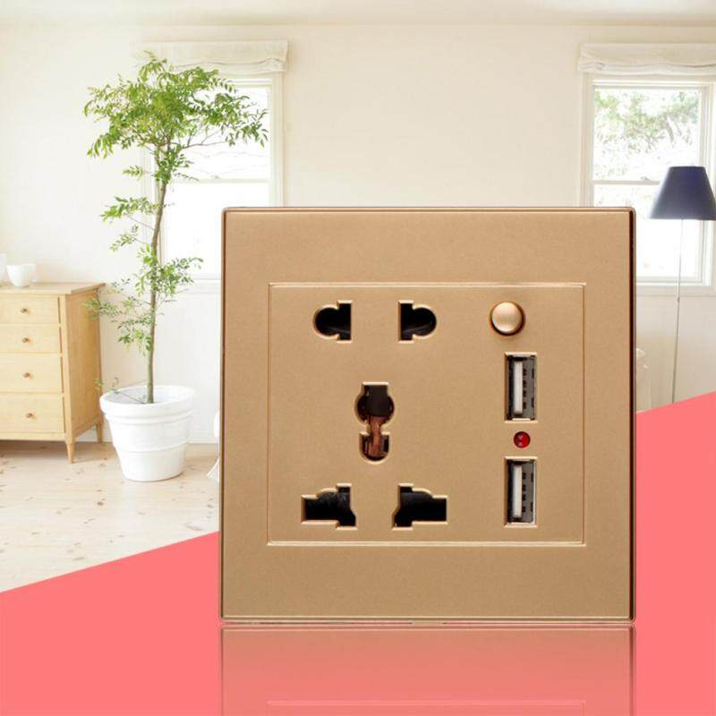 Buy Dual USB Electric Wall Charger Dock Station Socket Power Outlet Panel Plate Malaysia