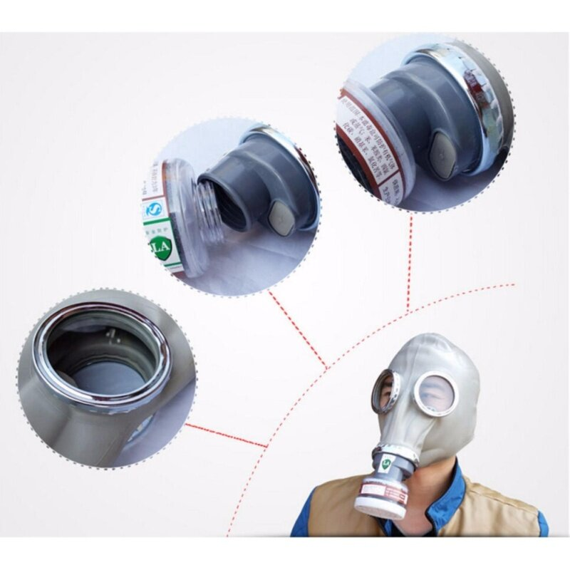 Buy Dust gas mask Respirator Painting Spraying full face with Cartridges set protect Malaysia