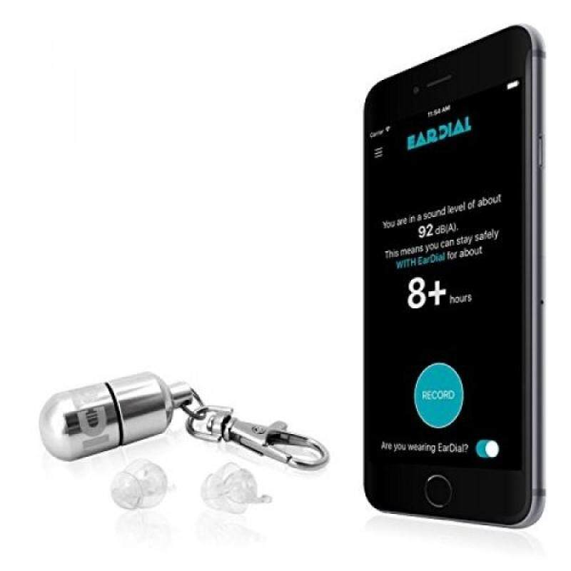 Buy EarDial Ear Plugs - Invisible Smart Earplugs for Live Music - Comfortable and Discreet High-Fidelity Reusable Hearing Protection with App. Perfect for Concert, Nightclub, Festival, Musician, DJ, etc. Malaysia