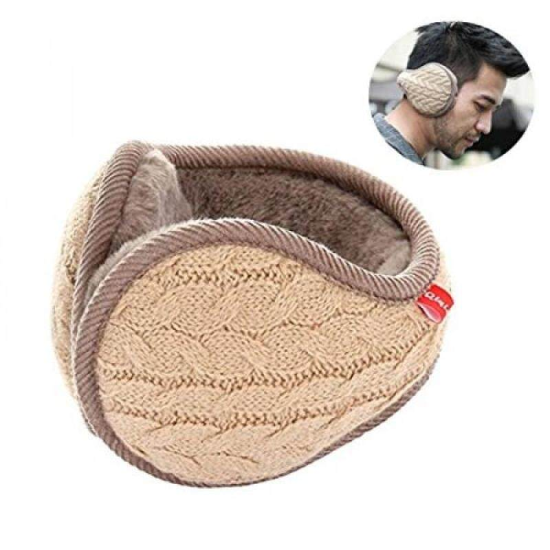 Earmuffs Warm - Unisex Foldable Knit Cashmere Plush-lined Earmuffs Winter Earmuffs for Men & Women