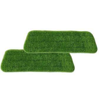 Easy Mop Spray Mop Microfiber Cloth Pad Refill 2pcs (Green)