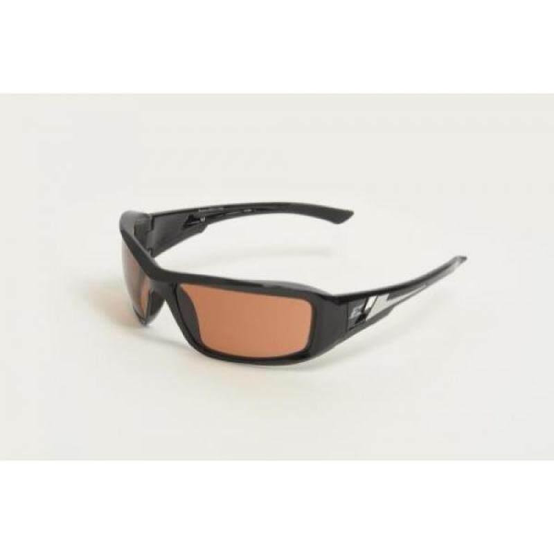 "Edge Eyewear XB115 Brazeau Safety Glasses, Black with Copper ""Driving"" Lens"