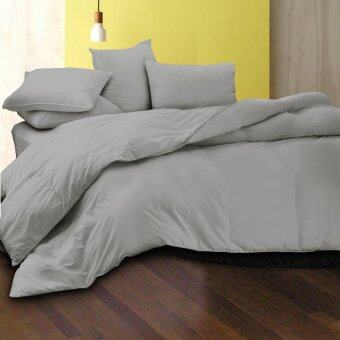 Essina Candies Grey Mercury 100% Cotton Fitted Bedhseet set with Quilt Cover