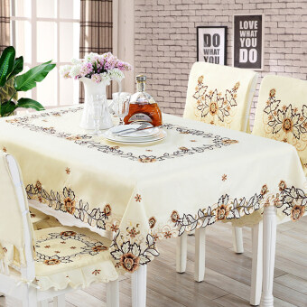 Europeanstyle Table Cloth Fabric Coffee Table Cloth Carvedembroidered Tablecloth  Tables And Chairs Suit Quilted Chair Cover