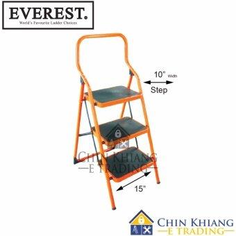 Everest SF02-3 Orange Steel Household Platform Ladder 3 Steps