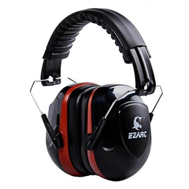 EZARC Safety Ear Muffs 34dB for Shooting, Cutting, Gardening, Plant Working Hearing Protection, Adjustable Headband Ear Defenders Noise Reduction Earmuffs,Black Red