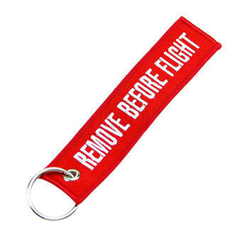 Fang Fang Key Chain Luggage Tag (Red)