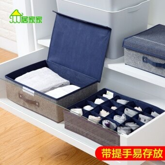 Harga Felt home wardrobe seperated underwear storage box