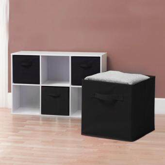 Foldable Storage Cube Basket Bin Non-woven Storage Box DrawerBasket Bin Closet Clothing Toys Storage Containers