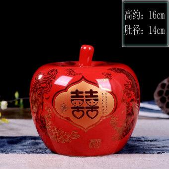 Fortune modern Apple Creative Chinese red Storage Tank