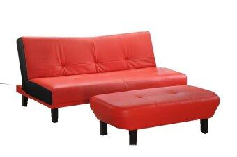 Furniture direct n921 3 seater sofa bed 1 bench red for Sofa bed lazada