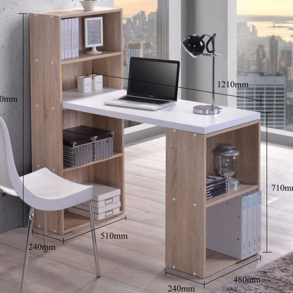 FURNITURE DIRECT SPACE SAVER OFFICE DESK WITH BOOKCASE | Lazada Malaysia