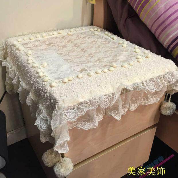 Gai Jin Bedside Cabinet Cover Table Pad Cloth Round Tableclothrefrigerator Air Conditioning Coffee
