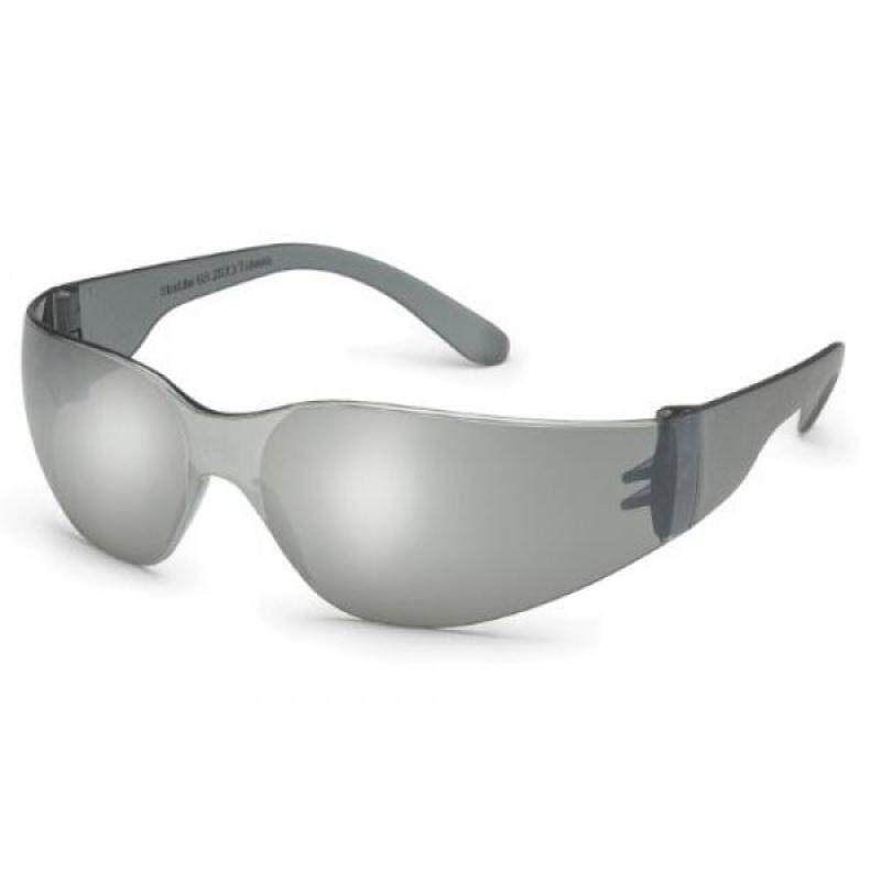 Gateway Safetys er-Sized StarLite SM Safety Glasses, Silver Mirror Lens, Gray Temple,
