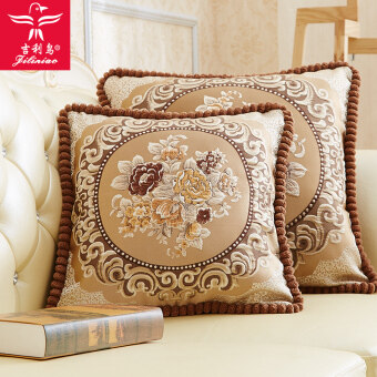 Geely bird plush European sofa embroidered pillow cover containing core Cushion
