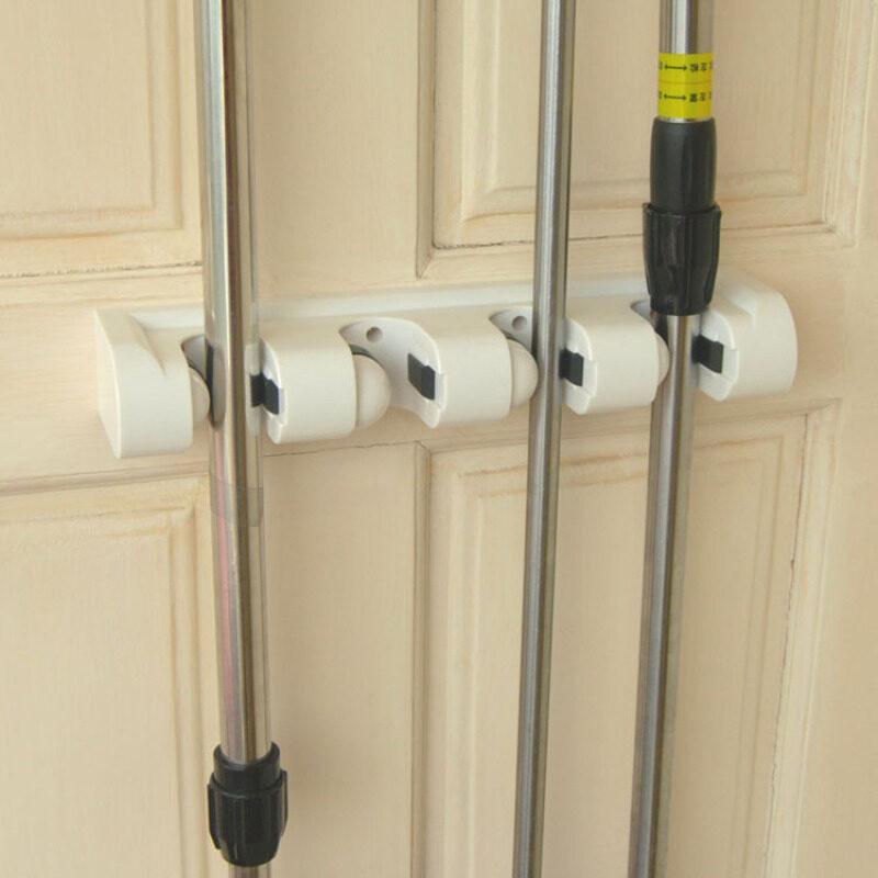 Genuine! Japan KM mop rack multi-function to trailers magic rack broom rack 4 head mop rack