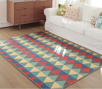 Geometric Triangle Carpet Fiber Living Room Decor Rug70X140CM