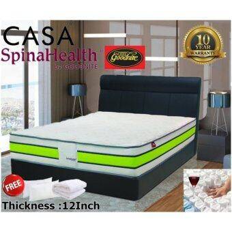 Harga Goodnite King Size 12 inch Thick Pocketed Spring Deluxe Mattress Only ideluxe