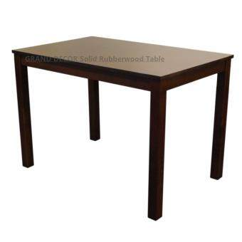 GRAND DECOR Solid Rubberwood Table for Four Person/ Kopitiam Dining Table/ Dining Table