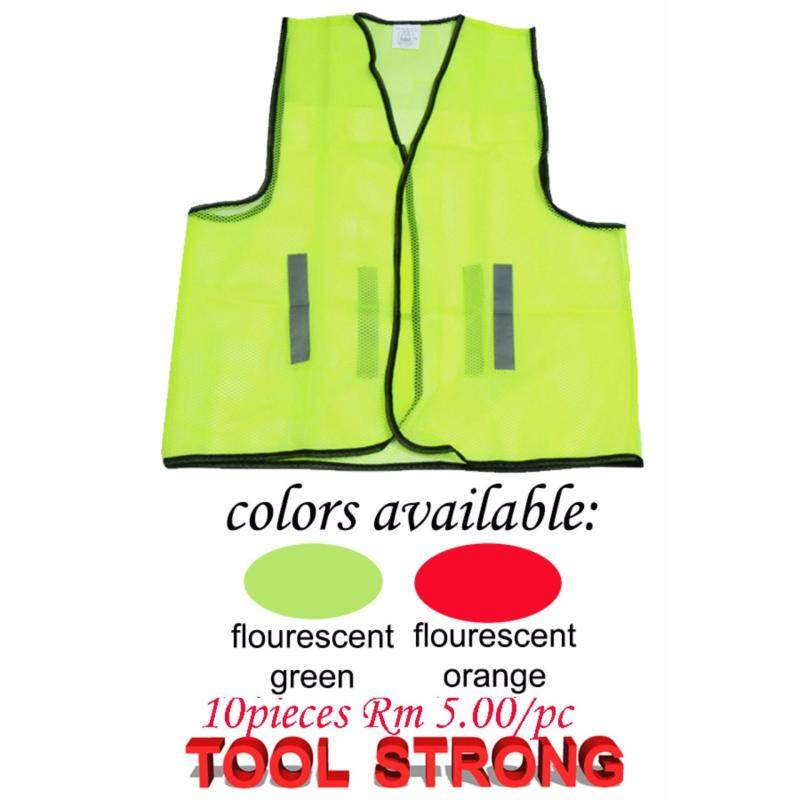 GREEN SAFETY VEST 10 PIECES