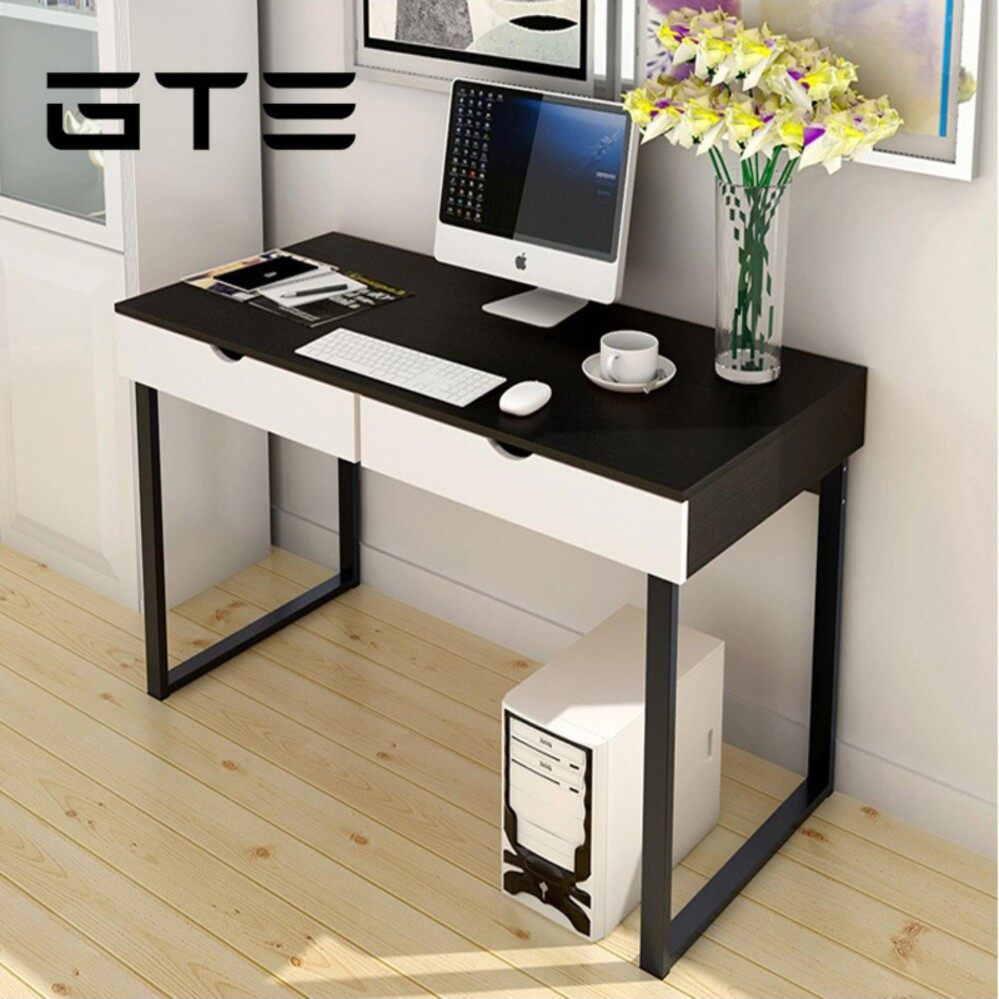 Gte Simple Modern Computer Desk Study Table Home Office With Drawer 858 100s 2 Colors Available Malaysia