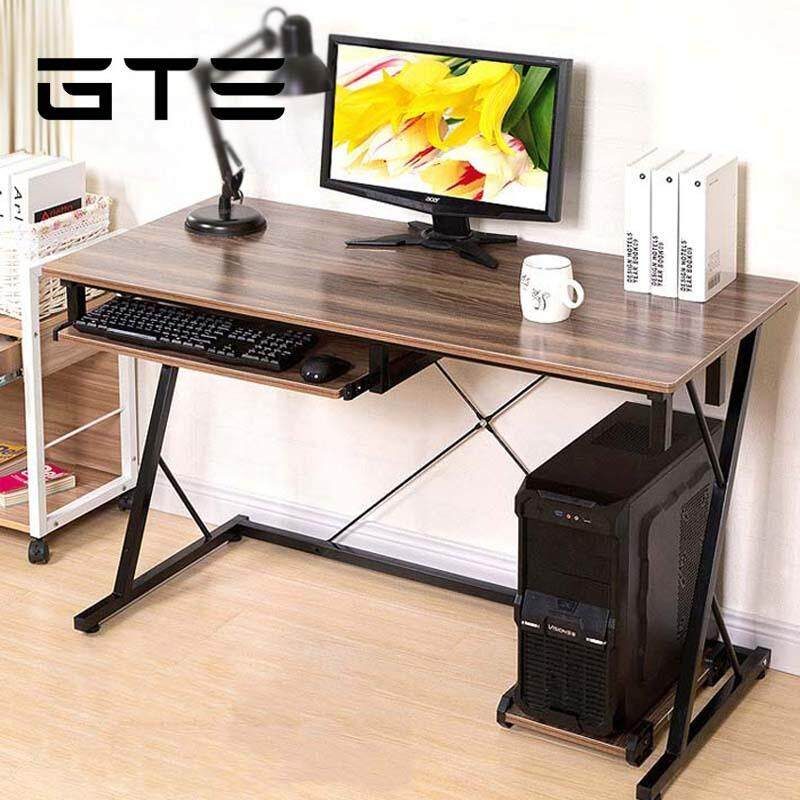 Gte Simple Modern Wooden Desktop Computer Desk Z Shape Home Office Table Study Z5 Brown Malaysia