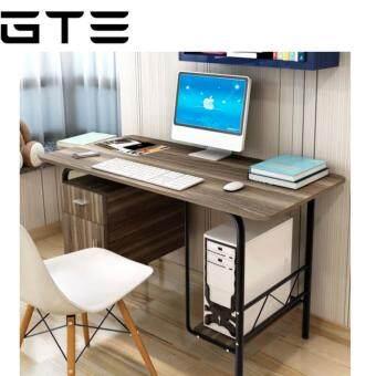 GTE TS-03 Combination of Desktop Laptop Wooden Desk With Cabinet (120cm x 60cm) - Dark Brown
