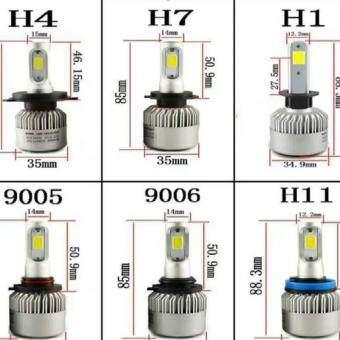 H1 H3 H4 H7 H8 H9 H11 H13 880 881 9004 9005 9006 9007 9012 COB CREELED 72W 8000LM 6500K Auto Car Headlights Kit Driving Bulbs Lamps - 3