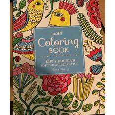 Happy Doodles Adult Coloring Book With 24 Mini Colored Pencils By Flora Chang