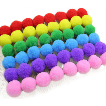 HengSong 60pcs Kids DIY Plush Ball 20mm Fur Ball Pompon For Home Decor Flowers Craft Multicolor