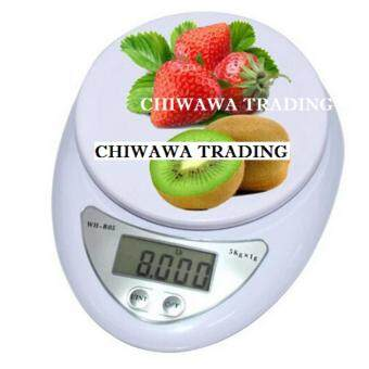 High Precision Electronic Digital Kitchen Weighing Scale, Food Diet Postal Scale 5kg (White)
