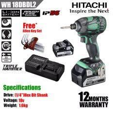 hitachi wh18dbdl2. hitachi wh18dbdl2 18v cordlless impact driver c/w 2pcs 5.0ah battery \u0026amp; 1pc charger + hand screwdriver set wh18dbdl2