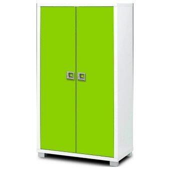 HK SC4629 - 2 Doors Shoe Cabinet Apple Green/White   Lazada Malaysia