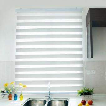 [Home Blind] Rainbow Blinds / Zebra Blinds / Korea Import / W137cmx H200cm / Roller Blinds / Window Blinds (Snow White)