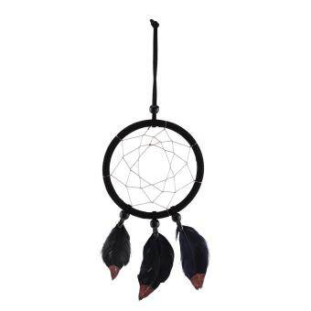 Home Decor Hanging Black Feathers Wall Craft Dream Catcher