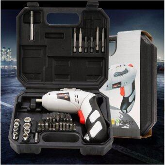 Home Improvement : Rotatable Cordless Rechargable Full Black & White Portable Power Drill Tools Sets