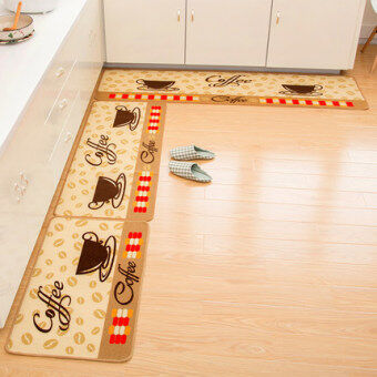 Home kitchen waterproof non-slip carpet mats bathroom toilet matsliving room Hall bedroom door mat - 2