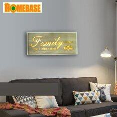 HOMEbase Simple Creative Wood Led Paint Frame Bedroom Living Room Kitchen Staircase Corridor Wall Deco