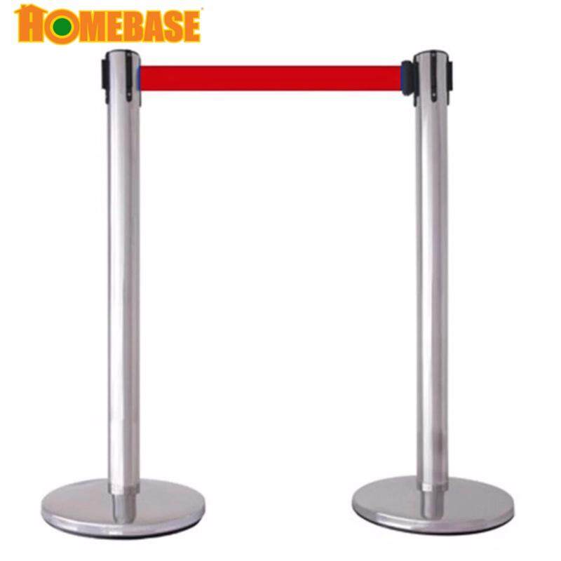 Buy [HOMEbase]Stainless Steel Barrier Stand 1 sets( 2 pieces)2 meter/Built -in adjustable belt/Indoor & outdoor Barrier/Event Barrier/ Bank Barrier / Protection Area Barrier / Road Barrier/ Warning Ba Malaysia