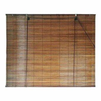 Homez Solid Blinds (W) 3 ft x (H) 6 ft Bamboo Blinds - (Natural)
