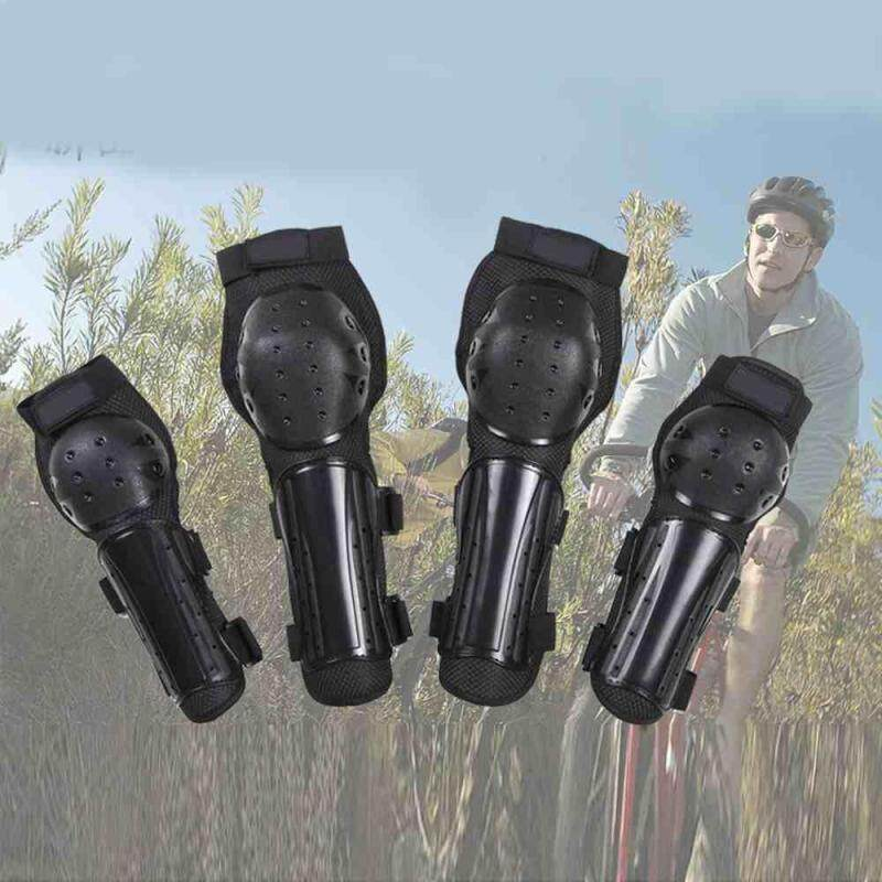 Buy Hot 4pcs Elbow Knee Protector Pads Fashionable Suit For Bicycle Outdoor Sports Malaysia