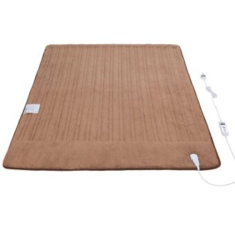 iGuerburn Electric Heated Over Blanket - 150W - 160*130cm - 200gsm Coral Fleece - Washable Chocolate Soft Fleece Throw - 1 to 9 Hour Timer - 10 Temperature Settings - 2