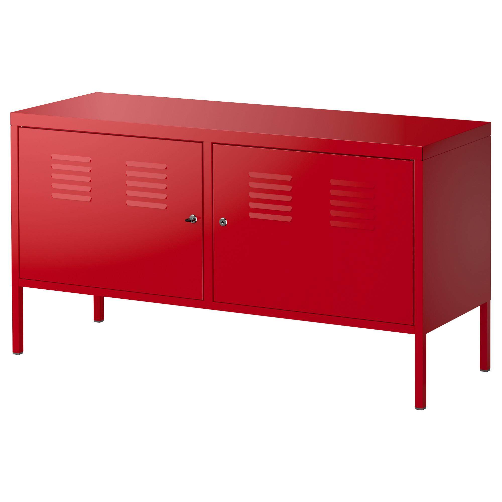 Ikea 201 683 43 ikea ps storage cabinet steel shelf red