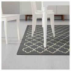 Ikea 403 074 80 Hovslund Grey And White Shapes Modern Rug Carpet 160x230 Cm