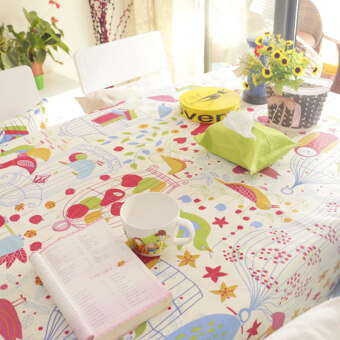 Harga IKEA European dustproof tablecloth Fabric