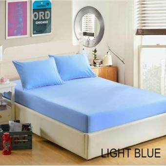 IKEA Inspired [Bed Sheet Only] Fitted Plain Mattress Protector Bedspread Cover Bed Cover Mix and Match Pillow Cover - Queen