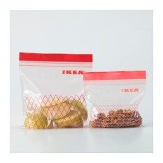 Ikea Istad 60 Pieces BPA Free U0026 Reusable Food Storage Bag, Snack Bag,  Freezer