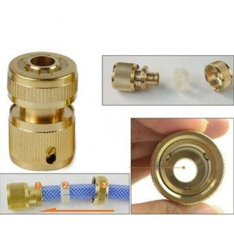 Harga Garden Watering Fittings Connector Water Hose Pipe Plumbing Tubing Brass Water Hose Pipe Connector